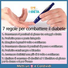 7 regole per prevenire il diabete #preveniremegliochecurare