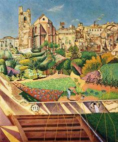 Montroig la Iglesia y el Pueblo, Joan Miro — Bestarts.org