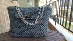 """DK collection """"Skiathos"""", Handmade crochet small bag for evenings and elegant appearance Handmade Bags, Handmade Items, Skiathos, Crochet Top, Crochet Bags, Metal Chain, Evening Bags, Women Accessories, My Etsy Shop"""