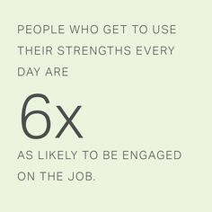 Case Study Snapshot: How Bentley University Prepares Students for Successful Careers Using CliftonStrengths  People who get to use their strengths every day are 6 times as likely to be engaged on the job