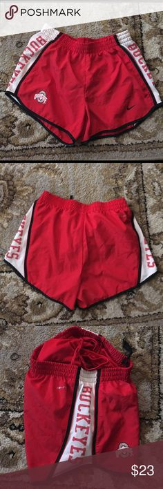 OSU Buckeyes Nike Track Shorts Small Ohio State University Track shorts size Small. Nike Dri-Fit . Drawstring Waist. Ready to ship         Fast Shipper 🙌🏾 Top Rated Seller 😉 New items to love often ❣ Always willing to bundle 🤑 I accept most offers 🎗🎗 Nike Shorts