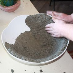 Papercrete for Fairy Gardens