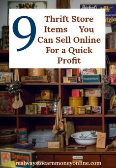 You can sell thrift store items online for a quick profit. In this post, we're sharing with you the top items to look for to get the most bang for your few bucks. via store crafts to sell 9 Thrift Store Items You Can Sell Online For a Quick Profit