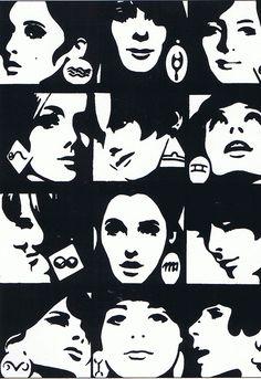 Horoscope Illustration for 'Elle' Magazine, 1965 - Roman Cieslewicz