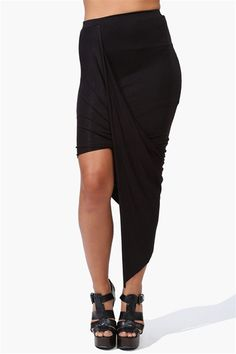 Asymetric Skirt in Black  http://www.necessaryclothing.com/bottoms/All-Bottoms/NCC10676-Asymetric-Skirt-in-Black