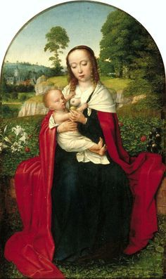 The Virgin and Child in a Landscape - Gerard David..