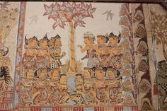 painted wall panels/murals    Kertha Gosa and Taman Gili, the Royal Courts of Justice of Klungkung,  Bali, Indonesia