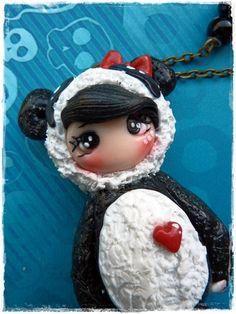 dolly im   Panda Kostüm von Marions Traumlädchen auf DaWanda.com
