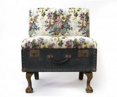 Suitcase chair #upcycle #suitcase