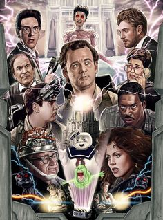 Love this #Ghostbusters collage poster by Sam Gilbey