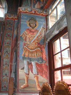 Miloš Obilić - Wikipedia, the free encyclopedia Byzantine Icons, Byzantine Art, Fresco, Italian Army, Belgrade Serbia, Church Architecture, Orthodox Icons, Serbian, Sacred Art