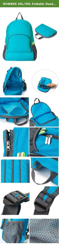 HOMREE 20L/35L Foldable Handy Lightweight Travel Backpack Hiking Daypack (Blue). This packable backpack can meet your expectation for a worry-free and hassle-free trip completely. You can throw it in any suitcase, purse or car and have an extra bag without it taking up space. You can transform it from pocket to backpack when you arrived at destination. In addition to being an airport hero which allows you to enjoy a comfortable journey without paying extra excess baggage charges, this...