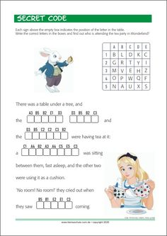 Secret code - Printable worksheets Letter Worksheets, Kindergarten Worksheets, Printable Worksheets, Learning Numbers, Learning Letters, Alphabet, Secret Code, Pre Writing, Learning Colors