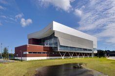 Resultado de imagem para recreation and wellness center perforated panels