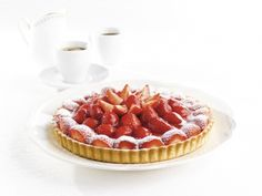 Pidy Gourmet Tarte Sablée with patisserie cream and strawberries