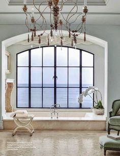 Easy Ways To Love Your Home; Farmhouse Bathroom Decor Ideas As far as home-improvement projects go, it's not the scale of the changes that you make. Country Interior Design, Interior And Exterior, Porches, South Shore Decorating, Beautiful Bathrooms, Bathroom Inspiration, Vintage Home Decor, Bathroom Interior, House Design