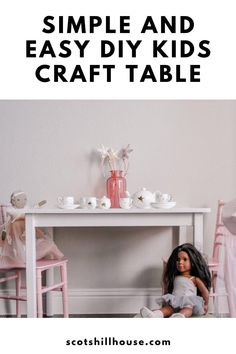 Diy Crafts For Kids Easy, Easy Arts And Crafts, Kids Craft Tables, Cute Wall Decor, Kids Bedroom, Kids Rooms, Pottery Barn Inspired, Play Spaces, Diy Furniture Projects