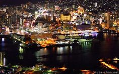 Nagasaki, View from Mount Inasa Observatory | Nagasaki port night view and a little history