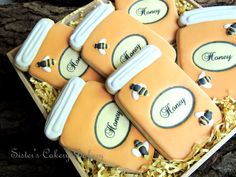 Honey Bee Jar Cookies-  @Danielle Hayes -just in case you bake the incorrect sex baby