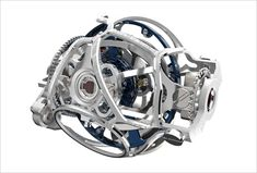 Watchprosite- A picture of the Gyrotourbillon III in 3 dimensions. A surrealistic photo, for sure! It looks like a racing engine, and a noble one. I am not very keen on Fine Watches, Cool Watches, Watches For Men, Tourbillon Watch, Style Masculin, Cage, Perfect Man, Luxury Watches, Chronograph