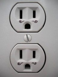 mustache electric sockets