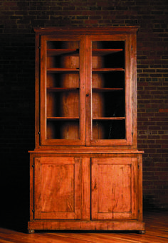 Tall Cabinet with Glass Upper Doors