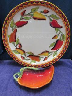 shopgoodwill.com: Stone LIte Clay Art Chip 'N Dip Bowls, Santiago