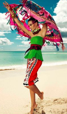 Harper's Bazaar Mexico July 2013. Love the bold colour and vibrance that this picture emanates!