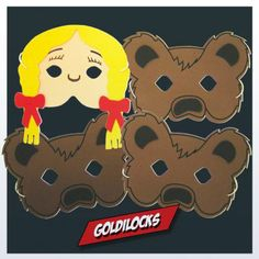 Goldilocks Masks are great for role play activities with young children