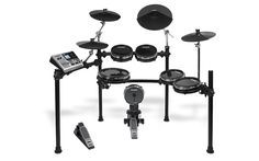 Built around the powerful sound module, the Alesis Studio Kit has RealHead drum pads, DMPad Cymbals and the super-steady StageRack. E Drum Set, Drums For Kids, Drums Studio, Sheet Music Stand, Recording Studio Equipment, Drum Pad, Drum Lessons, Drum Kits, Recycling