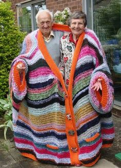 Handmade snuggie for two. I have no words....a first for me. Well, I guess I could say...you snuggy together, you stay together. Sweet!