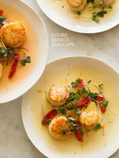 Citrus Seared Scallops. #recipes #foodporn #seafood #scallops