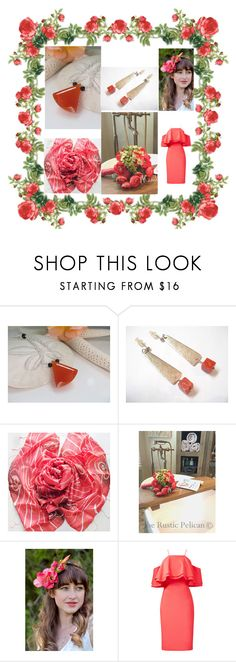 """""""Coral - i - cious !"""" by jarmgirl ❤ liked on Polyvore featuring Badgley Mischka"""
