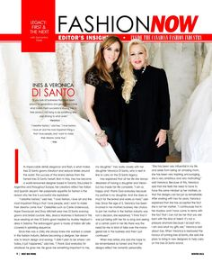 2 of my favorite people in the world!! Inside Canadian Fashion Industry of Ines Di Santo & Veronica Di Santo.