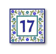 Floral House Numbers Address Numbers Address by AyeBarDesigns