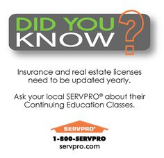 SERVPRO of Keene Did You Know? Continuing Education Classes