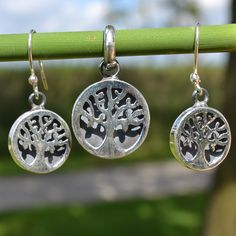 Levensboom zilveren set (hanger en oorbellen) Gratis verzending binnen Nederland