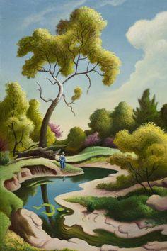 "From Masterworks exhibition: Thomas Hart Benton, ""Clay County Farm"" (1971), Oil on canvas"