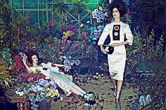 "Vogue - ""Hothouse Flowers"" Models: Karen Elson and Carolyn Murphy Photog: Steven Klein Fashion Ed: Grace Coddington Grace Coddington, Carolyn Murphy, Karen Elson, Best Home Fragrance, Hothouse, Vogue Us, Vogue Photo, The Secret History, Best Perfume"