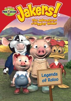 Sugar Pop Ribbons Reviews and Giveaways: Jakers! The Adventures of Piggley Winks: Legends of Raloo DVD Review & Giveway 2000s Cartoons, Old Cartoons, Cute Cartoon Characters, Cartoon Tv Shows, Childhood Tv Shows, Childhood Memories, Maile Flanagan, Mike Young, Pbs Kids