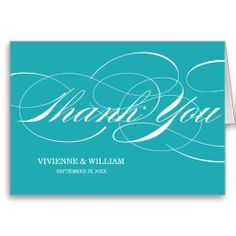 SCRIPT THANKS   WEDDING THANK YOU NOTE CARDS