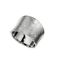 Silver Diamond Dust Graduated Band Ring - Starfish Jewelry Store