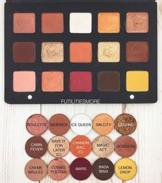 This looks like a pretty good dupe for the sunset palette, might have to pick a couple of these shades up.