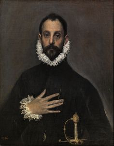 El Greco, The Nobleman with his Hand on his Chest ca. 1580 | Prado