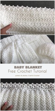 Baby Afghan Crochet, Crochet Baby Booties, Free Crochet, Crochet Crafts, Crochet Yarn, Crochet Projects, Easy Knit Baby Blanket, Crochet Tutorials, Crotchet Patterns