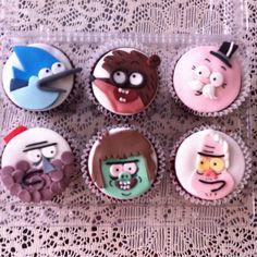Regular Show cupcakes <3