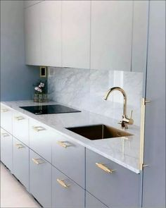 45+ Creative Gray Kitchen Cabinet Ideas « couponxcode.info