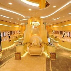 Travel in luxury - the inside of an airplane owned by a sheik. Nice ride, eh?