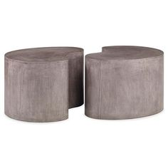 Bray Industrial Modern Grey Stone Coffee Table | Kathy Kuo Home