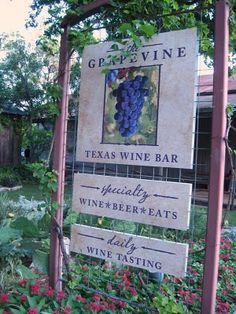 Grapevine Wine Bar - Gruene, Texas